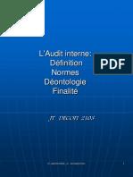 Audit Interne (Définitions, Normes Et Finalités)