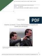 Governo Acumula 7 Casos Relacionados a Suspeita de Crimes de Corrupção - 27-10-2020 - UOL Notícias