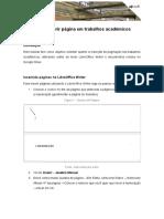 Como inserir página em trabalhos acadêmicos