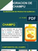 ELABORACION DE CHAMPU