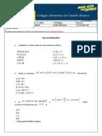 Lista de Matemática sobre Conjuntos