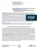 GUIA 1 INTEGRADA POLITICAS, FILOSOFÍA, ETICA Y RELIGIÓN GRADO 10-11