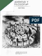 GAOS, José, Juventud y Filosofía (Revista Universidad Nacional)