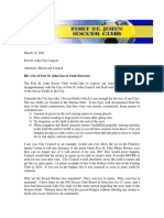 Fort St. John Soccer Club - Surerus Park Concerns