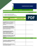 Formato de Planificacion y Gestion de Cambios