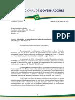 Ofício Nº 37-2021. Irregularidades na cadeia de suprimentos dos medicamentos utilizados para iot. jair bolsonaro