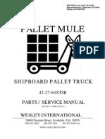 SHIPBOARD PALLET TRUCK_manual