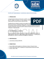 POL-DIR-04 POLÍTICA DE TRANSPARENCIA Y GESTIÓN DE CONFLICTOS DE INTERÉS