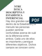 Diferencia Entre Estadística Descriptiva y Estadística Inferencial