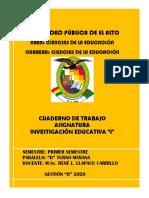 CUADERNO INV. EDUC. I `PRIMER II 2020 CORREGIDO