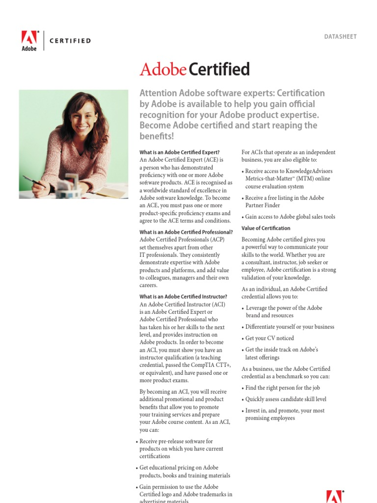 Adobe certified datasheet professional certification adobe systems 1betcityfo Gallery