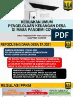 Kebijakan Dana Desa 2021 - PPKM Mikro