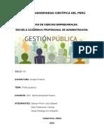 DEFINICIÓN Y COMPONENTES DE LA POLÍTICA PÚBLICA