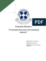 programa educativo lactancia materna