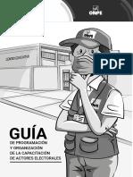 GUIěA DE PROGRAMACIOěN Y ORGANIZACIÓN DE CAE EG 2021