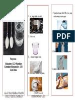 leaflet larutan gula garam