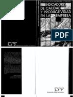 Indicadores de Calidad y Productividad en La Empresa
