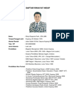 Daftar Riwayat Hidup Ricky Foeh