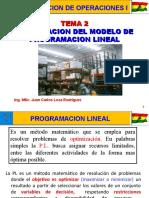 Tema 2 Formulacion del modelo de PL