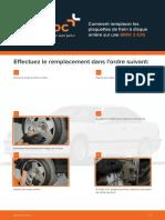 Comment remplacer les plaquettes de frein à disque arrière sur une BMW 3 E36
