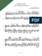 Sonata G-moll_Vivaldi_1 - Score and Parts