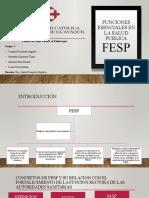 FUNCIONES ESENCIALES DE SALUD PUBLICA (GRUPO 4)