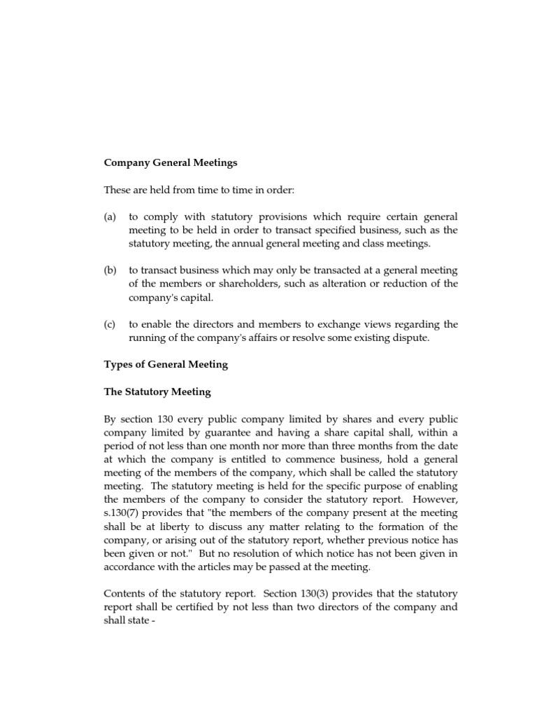 statutory general meeting