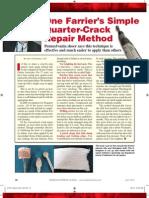 Simple Quarter-Crack Repair Method