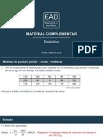 Material Complementar estatistica unip