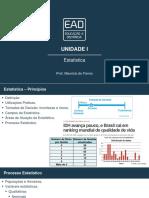 Slides de Aula – Unidade I estatistica unip