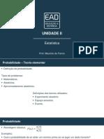 Slides de Aula – Unidade II estatistica unip