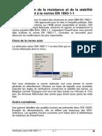 Verification de la resistance et de la stabilite conformement a la norme EN 1993-1-1