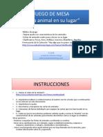 UNIDAD 5 JUEGO DE MESA CADA ANIMAL EN SU LUGAR