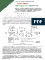 Lead accu charger - Kondenzátorová nabíječka olověných akumulátorů