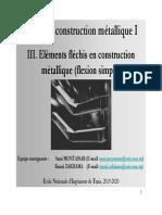 Cours_Construction métallique_1_Chapitre _3_Eléments fléchis