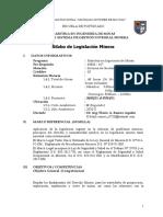 SILABO CURSO LEGISLACION MINERA - FARA