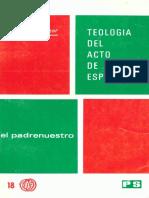 ALONSO SALAZAR, S., Teologia Del Acto de Esperanza. El Padrenuestro, 1974