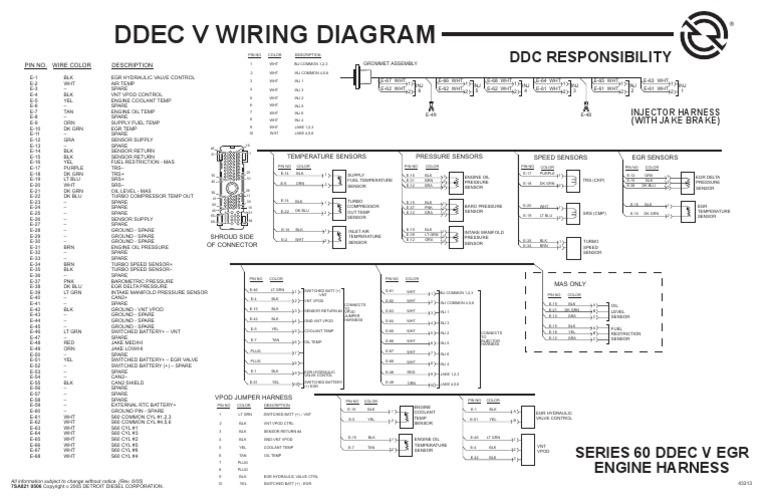 diagrama de motor detroit rh es scribd com detroit 12.7 ecm wiring diagram detroit diesel wiring diagram series 60