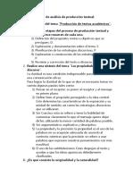 Guía de análisis de producción textual español