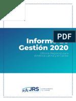 Informe de Gestión JRS LAC 2020