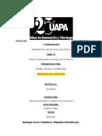 Tarea IX de Fundamento Filosofico e Hitorico de La Educacion.