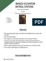 PLC BASED ELEVATOR CONTROL SYSTEM-1