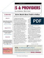 Payers & Providers California Edition – Issue of March 3, 2011