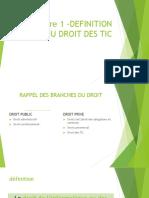 Definition Du Droit Des Tic Et Cadre Institutionnel