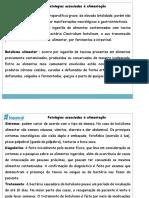06- Patologias relacionadas à alimentação