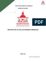 Proyecto de Ley de Ciudades Comunales