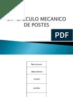 CALCULO MECANICO DE POSTES2018