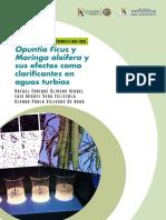 Opuntia Ficus y Moringa oleifera, y sus efectos como clarificantes en aguas turbias