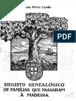 Registo genealógico de famílias que passaram à Madeira