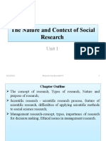 Unit 1 the Nature and Context of Social Research
